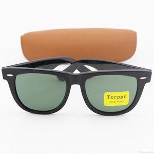 New arrival high quality Black Metal hinge Plank frame 50 54mm Brand Designer Fashion Men Women Sunglasses Sport Sun glasses with Box