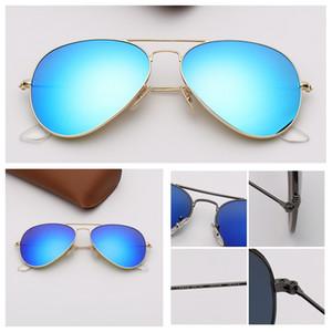 Tasarımcı Womens Eyeware ile Top Kalite Davası için lüks fashional Stil gözlükleri Ray Pilot Des Lunettes De Soleil Sunglasses