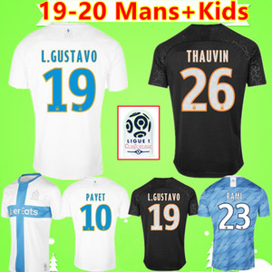 Adults and children 19 20 Olympique De Marseille football shirts 2019 2020 Marseille football shirt BENEDETTO Camisetas THAUVIN soccer jeresy 120th retro home away third white