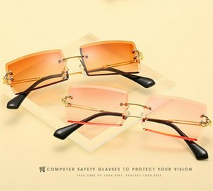 10 Colors Outdoor Eyewear Small Rectangle Rimless Square Sunglasses Summer Style UV400 Unisex Glasses 59126563604227