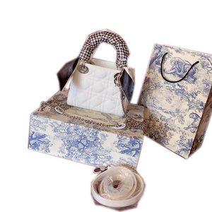 Donna classica spalla della borsa Dior portamonete in pelle borsa sciarpe catena quadrati portatile tipo shopping bag, tre opzioni con Box 17 centimetri