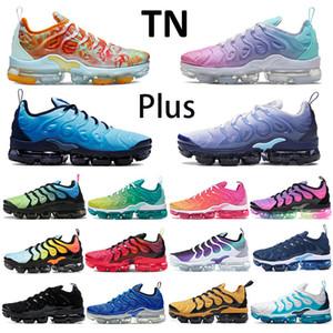2020 New sapatos de corrida TN além de ser verdadeiro de abelha EUA fucsia limão laranja hortelã mergulho cal activo corante preto tênis branco