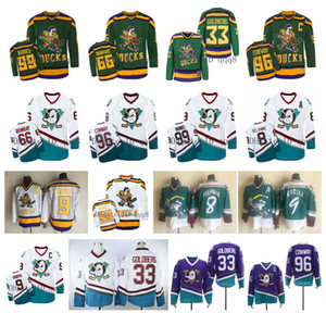 Mighty Ducks Película Jerseys 66 Gordon Bombay 96 Charlie Conway 99 Adam Banks Ducks Wild Wing Jersey 8 Teemu Selanne 9 Paul Kariya CCM Hockey