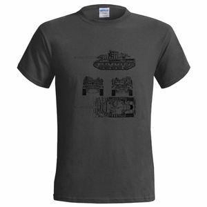 T-Shirt Summer Style Funny AMX 30 B2 BATTLE TANK BLUEPRINT MENS T SHIRT ARMY MILITARY BRENUS WAR FRANCE Tee