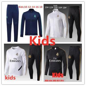 Kit Survêtement de soccer Enfants Real Madrid 2019 Veste de football 2020 enfant DANGER MBAPPE Pogba KANTE CITP kroos BOY costume formation SPORTSWEAR