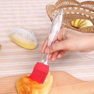 Silikonölpinsel Baking BBQ-Pinsel Transparent Griff DIY Kochen Tools Silikon Pinsel für Küche Camping-Werkzeug HHA1104
