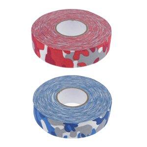 2 Rolls Anti-Skid Wearproof Ice Roller Hockey Stick Grip Tape Red Camo