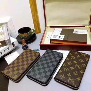 01LVLOUISVUITTONBlumen-lange Einzel Zipper Wallet klassische Frauen-Herren-Geldbeutel-Kupplungs-Qualitäts-Abendpaket Münze