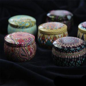 Retro Çiçek Çay Vaka Yaratıcı Düğün Klasik Teneke Şeker Kutusu Renk Küçük Hediyeler Favor Depolama Pot 2 3zs F1