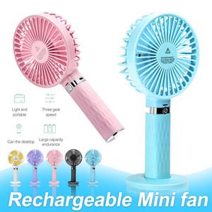Mini Fan Handheld portátil com USB recarregável Fan Super Mute velocidade ajustável Para Casa Ar Livre Viagem com Retail Box