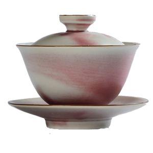 Cerimônia Retro Grosso Olaria Kiln Gaiwan Feito à Mão Ceramic Tea bacia Terrina Copos Decorações Home Decor Tea