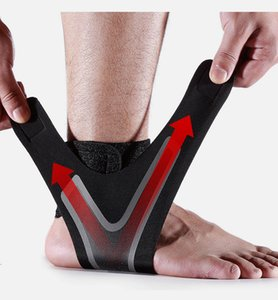 Compression Ankle Brace Bandage Wrap Foot Safety Adjustable Elastic Ankle Protector Running Basketball Protection Sprains Support