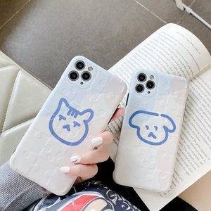 Super Cute Dog Phone Case For iphone 7 7plus English Letter WOW Cover For iphone x xr xs max 6 6s 7 8 plus soft back cover