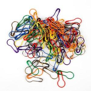 100pcs / pack de verrouillage à tricoter Crochet à tricoter Croix point marqueur Hangtag sécurité Gourd Pins aiguille clip Artisanat Couture Accessoires
