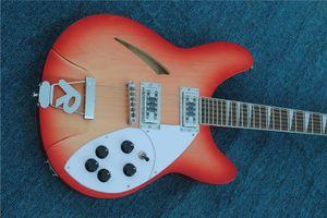 جودة عالية 12 سلسلة، ريكن 360 الصوتية الغيتار الكهربائي الغيتار الكهربائي، الكرز الأحمر الجسم مع الورد الأصابع شحن مجاني