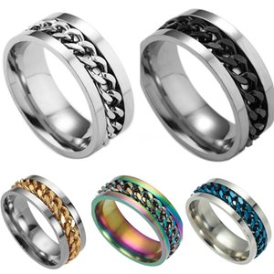 Valentine'S Day Gift- Mixed Order Dropshipping Stainless Steel Rings Mens Ring Chain And Tyre Design Rings Jewelries Factory Supplier 414 #63