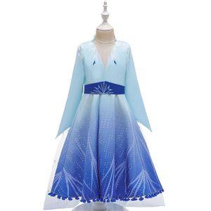 Diseñador niñas Cosplay Vestidos de fiesta Cosplay de la historieta de los niños vestido de la princesa vestidos de los niños del traje de manga larga de 3-9T venden 04