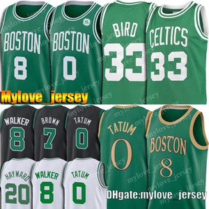 Jayson 0 Tatum jerseys Kemba Walker 8 de New Boston