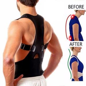 2019 Magnética Postura Hombres Volver Corrector hombro de apoyo lumbar inferior trasera de la ayuda de la correa de la correa de tipo B con el imán Terapia-Brace