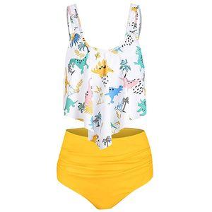 JAYCOSIN Estate Costumi da bagno Beachwear Donne Plus Size Costumi da bagno Set a vita alta Stampa Dinosauro Balneazione Dropshipping may27 # 4