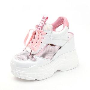 Lucyever Frauen Sandalen 2019 Sommer-Art- und aushöhlen Wedges Gladiator Sandalen High Heel Chunky Plattform-beiläufige Schuh WomanMX190902