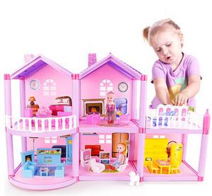 DIY بيت الدمية لLOL دمية الأميرة دمى فيلا القلعة مع اثاث محاكاة حلم فتاة لعبة البيت للأطفال CX200609