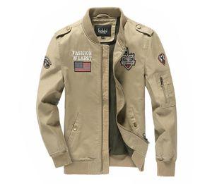 Autunno Solid Giacche Cargo stand colletto della giacca a maniche lunghe Ricamo Uomo Abbigliamento Panelled Cerniera Cappotti Uomo