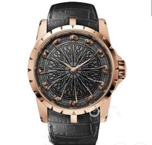 New alta relógio qualidade série Luxury King EXCALIBUR RDDB0511 Doze ouro povo de aço inoxidável relógios mecânicos relógio de pulso Mens Automatic