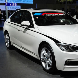 2PCS M Power Performance Car Side Sticker para BMW E28 E30 E34 E36 E39 E46 E60 E61 E62 E91 E92 F10 F20 F3 F30