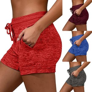 2020 NEW Women's Quick Drying Sports Shorts Knitted Shorts Sport Drawstring Sports Summer Elastic Waist