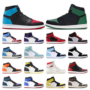 air jordan 1UNC Zum Chicago-Rosa-Grün TURBO GREEN TWIST Fearless Obsidian Bred Toe Mens Trainer Sportturnschuhgröße 5,5-12