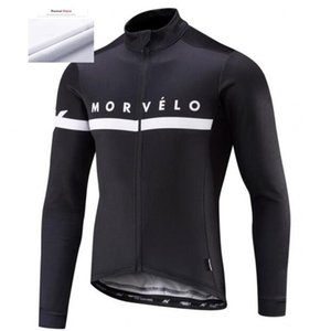 2020 Thermal Fleece Team White Men's Morvelo Maillots Ciclismo Long Sleeve Cycling Jersey Shirts MTB Mountain Bike Tops Clothing