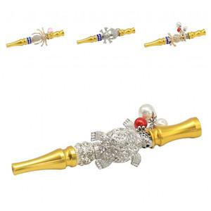 Neues Muster Tipps Rohr Opp Huka Shisha Tierzigarettenhalter gerade Art Eulen-Halskette Korn Abnehmbarer freies Verschiffen 14kl D2