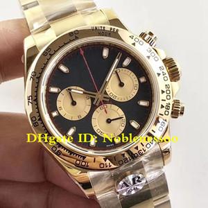 3 Cor Top Mens Cosmograph ouro amarelo 18K 116508 Paul Newman Dial Movimento De Homens AR Fábrica 904L Aço CAL.4130 relógios automáticos