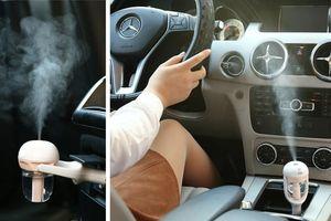 Nova 12 V Portátil Auto Mini Purificador De Ar Do Carro Umidificador de Vapor Aroma Aromaterapia Difusor de Óleo Essencial Fabricante de Névoa Mini Fogger frete grátis