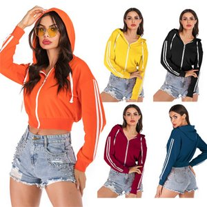 Fashion Women Designer Hooded Jacket 2020 New Brand Womens Hoodie S F Women Short Style Solid Color Hoodies Jacket 5 Colors 0