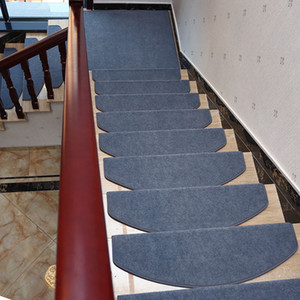 13Pcs Set Non-slip Adhesive Carpet Stair Treads Mats Pads Staircase Step Rug Stair Protection Cover Home Decor Accessory T200529