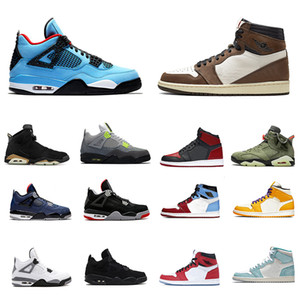 1 4s Banned Bred 4 sapatos Mens Basketball 6s Cactus Jack 6 Destemido 1s Homens Mulheres Sports Atlético Sneakers US 7-13