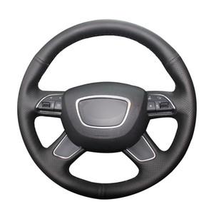 Cubierta de rueda de la PU artificial de piel cosida a mano para Audi A4 (B8) A6 (C7) A7 A8 A8 L Allroad Q5 Q7 2013-2017 Accesorios