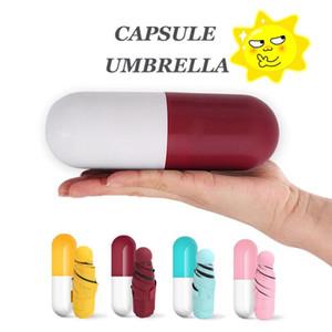 Mini Kapsül Kadın Şemsiye Anti-Uv Şemsiye Ultra Hafif Beş Katlanır Cep Şemsiye Kompakt Çocuk Rüzgar Geçirmez Yağmur Güneş Şemsiyeleri