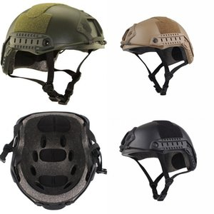 Lightweight Tactical Crashworthy Protective Helmet Head Protector Face Mask Outdoor Cycling Helmets For CS Paintball Game Riding Cap 60kq dd