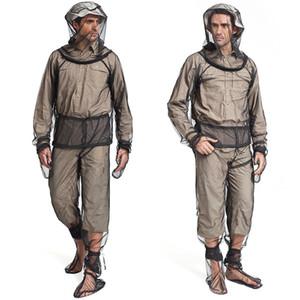 Кемпинг Приключения Рыбалка Clothings жилет Открытый комаров костюм черепашки куртка сетки с капюшоном костюмы насекомых Защитные сетки рыболовные одежды