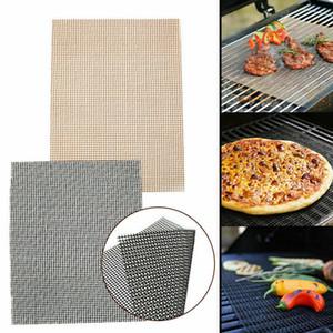 Atualizar Sheet New BBQ Grill Arame Non-Stick Mat reutilizável Teflon resistente Churrasco de carne placa para grelhar antiaderente piquenique cozinhar esteira do gás para churrasco