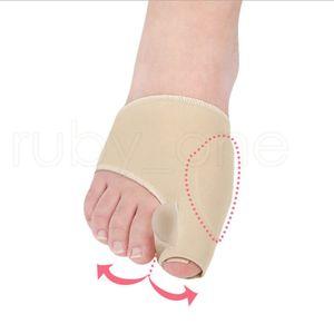 1 par Foot Care Tecido Gel joanete Pads Protetores mangas Escudo Anti-fricção Big Toe Joint Palmilhas de hálux valgo Corrector RRA2249