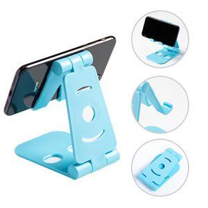 플라스틱 접이식 전화 홀더 유니버설 조정 표 핸드폰 홀더 데스크탑 접이식 휴대폰 홀더 게으른 태블릿 컴퓨터 스탠드