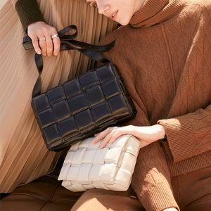 Dokuma Lüks Çantalar Yastık Çanta yastıklı Kaset Gerçek Deri Tek omuz Tasarımcı Çanta Ünlü Marka Kadınlar Çanta 2020