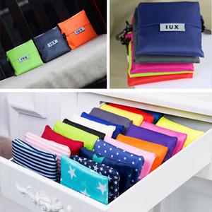 Atacado coreano Estilo bolsas de lona dobrável sacola de compras Ambiental presente Supermercado dobramento sacola saco de compras pode logotipo personalizado