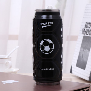 Cola Football 12 oz Bouteille d'eau en acier inoxydable tasse d'eau extérieur à isolation sous vide Tasse Coke Tumbler voiture tasse de café avec couvercle VT1714