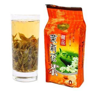 Чай китайский Весна Organic Jasmine зеленый чай 250г Свежайшая Органический зеленый чай Питание Сырые здравоохранения Жасмин цветы душистые