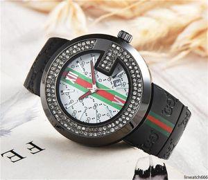 Double row drill crystal dial Silica Gel Strap Luxury Men Women Quartz watches 2019 Newest Hot Sell Fashion Ladies Quartz watch